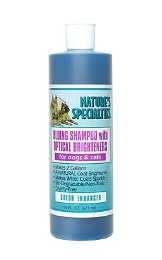 Natures Specialties Blueing Dog & Cat Shapoo for mobile grooming